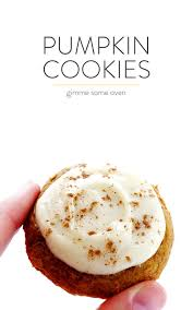 pumpkin cookies with cream cheese frosting gimme some oven
