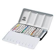 amazon com schmincke horadam aquarell 5ml paint tube metal set