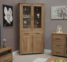 solid oak china cabinet eton solid oak furniture display cabinet library unit