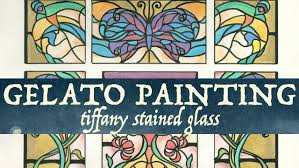 painting on glass windows gelatos painting tiffany stained glass youtube