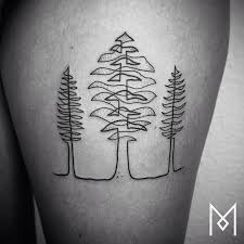 stunning one continuous line tattoos by iranian german artist mo ganji