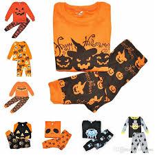 Pumpkin Halloween Costume 2017 Baby Girls Boys Clothing Sets Toddler Pajamas Suit Pumpkin