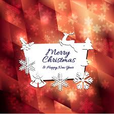 merry christmas and happy new year greeting card 123freevectors