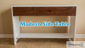 modern side table how to build a modern side table youtube