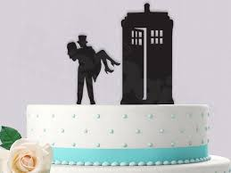 dr who cake topper dr who cake topper and groom tardis 2413343 weddbook