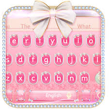 keyboard themes for android pink bowknot keyboard theme apk android gameapks
