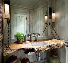 wood log as bathroom sink sinks logs and woods