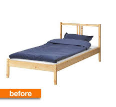 ikea bedframes before after simple ikea wooden bed frame gets a luxe