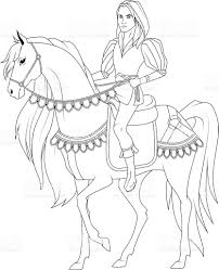 coloring book prince on the horse stock vector art 506546206 istock