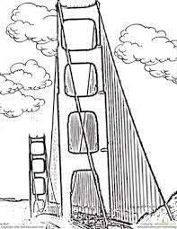 color the golden gate bridge worksheet education com