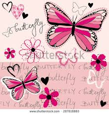 pink butterfly stock images royalty free images vectors