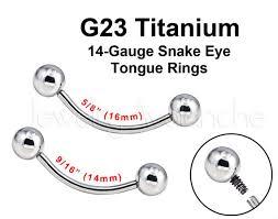 eye piercing rings images G23 titanium 14g snake eye tongue barbell tongue piercing etsy jpg