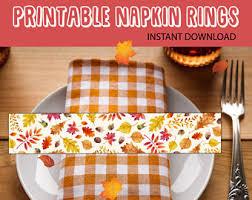 thanksgiving napkin etsy