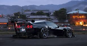 corvette c6 tuning cars wallpaper 89188 chevrolet corvette c6 black race car