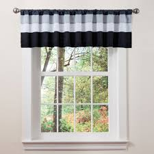 black and white curtains create a stylish look to your home