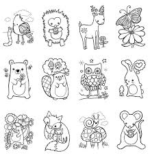 Woodland Animals Pictures To Colour And Coloring On Pinterest Woodland Animals Coloring Pages