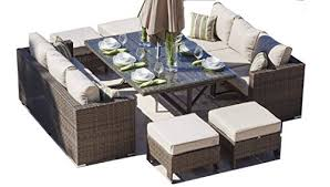 Rattan Outdoor Sofa Set Weave Modular Dining Set Outdoor Garden - Rattan outdoor sofas