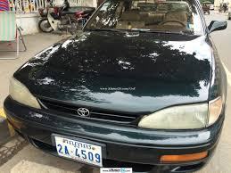 toyota camry green color toyota camry 1995 color green plate 2a in phnom penh on khmer24 com