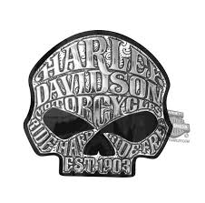 cg26006 harley davidson willie g skull graphix decal
