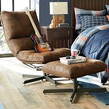 denim maverick swivel lounge chair u0026 ottoman pbteen