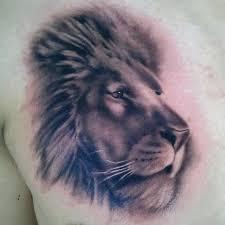 lion head design tattoo for men tattoomagz