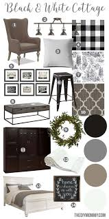 a black u0026 white farmhouse country cottage decor mood board