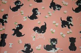 cat wrapping paper cat wrapping paper zoeken vintage cats 3
