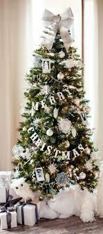 plain design tree garland silver garlands happy holidays