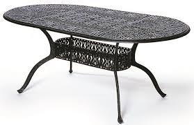 oval aluminum patio table oval patio table grand tuscany hanamint luxury cast aluminum patio