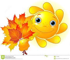 imagenes animadas de otoño sun con las hojas de otoño ilustración del vector ilustración de