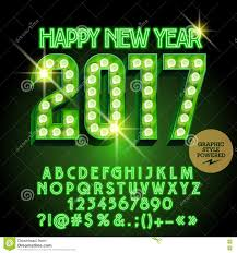 vector light up merry 2017 greeting card stock vector