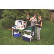 Coleman Camp Kitchen Camping Cooking Gear - Oztrail camp kitchen deluxe with sink
