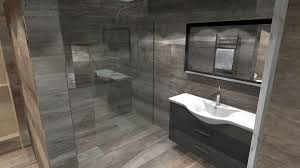 Bathroom Wet Room Ideas Colors A Virtual Design For A Large Luxury Wetroom Tiled With Oak Effect