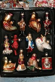 12 days ornaments collection on ebay