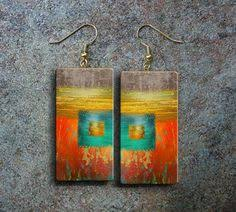 abstract art polymer clay earrings polymer clay pinterest