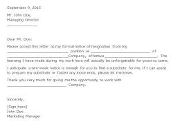40 two weeks notice letters resignation letter templates formal