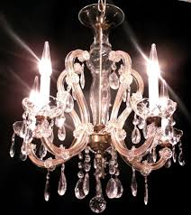 Maria Theresa 6 Light Crystal Chandelier Antique Vintage Maria Theresa Crystal Chandelier Light Fixture