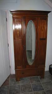 Mirror Armoire Wardrobe Bedroom Appealing Mahogany Armoire Wardrobe With Mirror For