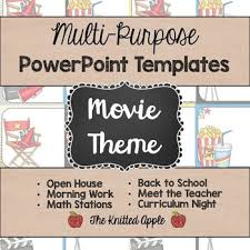 movie theme powerpoint templates by the knitted apple tpt