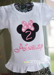 light pink personalized minnie mouse birthday shirt any number
