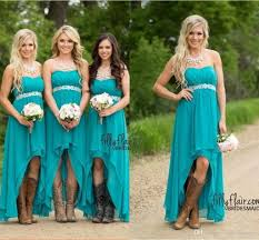 discount bridesmaids dresses cheap country bridesmaid dresses 2018 teal turquoise chiffon