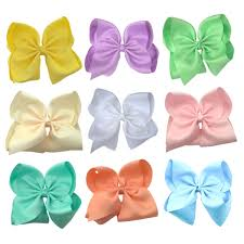 hair bow pastel hair bow set with free pink bow the solid bow