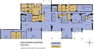 University Floor Plans University Housing Campus Communities Hotz Honors Information
