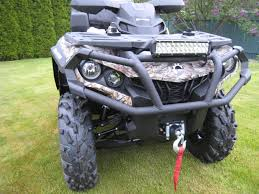 show me your led light bar u0027s can am atv forum
