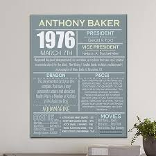 new personalized gift time gift personal history canvas personal history gift and craft