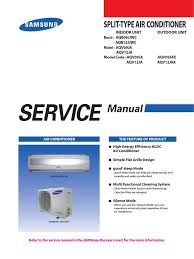 samsung aqv09 aqv12 service manual pdf air conditioning