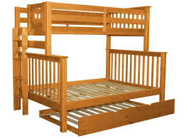bunk beds twin over full end ladder honey trundle 526