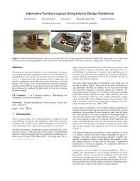 interactive furniture layout using interior design guidelines pdf
