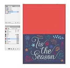how to create a festive greetings card in adobe indesign