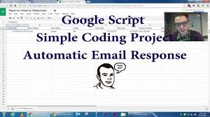 Google App Spreadsheet Google Apps Script Coding A Spreadsheet Auto Email Add On Youtube